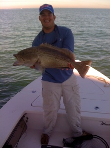 Capt Blake Smith and perfect Gag Grouper